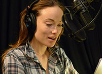 Olivia Wilde reading Nicholas Kristoff's A Path Appears